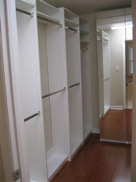 white melamine floor based system hanging with shelving