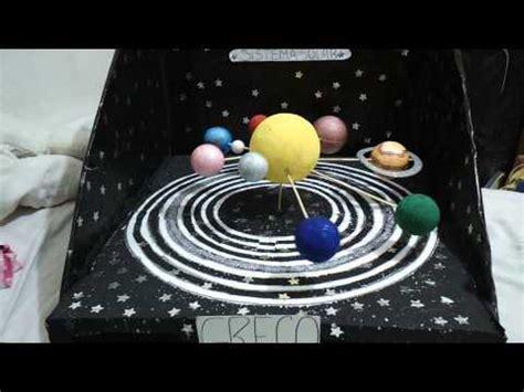 maqueta sistema solar con movimiento traslacion y