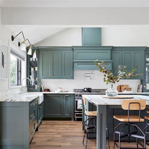 green hue    hot kitchen color trend