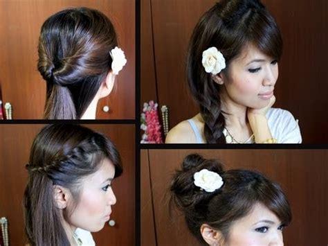 easy back to school hairstyles for medium hair tutorial youtube