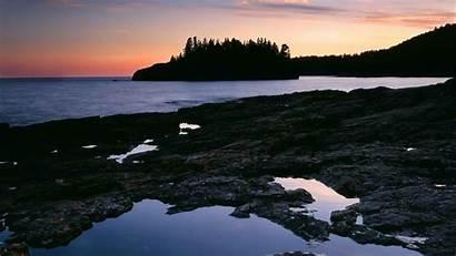 Minnesota Superior Lake Sunset Lighthouses Wallpapers Park