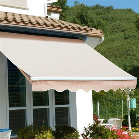 ft manual retractable patio awning deck sun shade shelter xtremepowerus