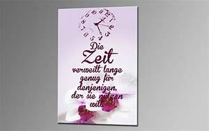 Leinwandbild Mit Spruch : zeit orchidee leinwand 60x40cm spr che deko ka00362 living ~ Sanjose-hotels-ca.com Haus und Dekorationen