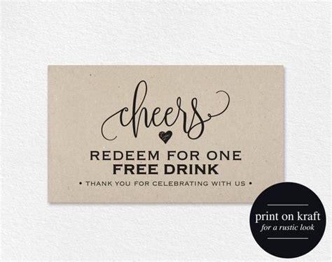 drink ticket template wedding printable drink