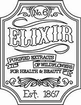 Embroidery Apothecary Victorian Labels Elixir Urbanthreads Label Patterns Halloween Designs Hand Steampunk Coloring Urban Threads Pages Regularsize Productimages Adult Awesome sketch template
