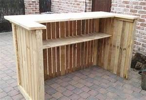 Construire Un Bureau : 12 id es de bars r aliser avec des palettes bricolage id es de bar bar en palette et bar ~ Melissatoandfro.com Idées de Décoration