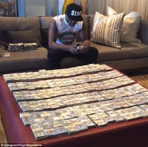mayweather money stack floyd mayweather insists he s living american dream