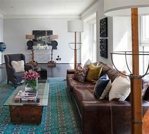 Braunes Sofa Welche Wandfarbe : wohnzimmer einrichten modernes designer sofa aus leder ~ Watch28wear.com Haus und Dekorationen
