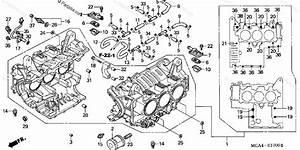 Honda Motorcycle 2003 Oem Parts Diagram For Cylinder Block