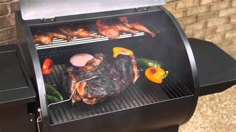 chef camp pellet grill smoker dlx smokepro bbq wood smokers