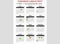 Calendario Laboral Festivos 2017 Comunidad de Madrid
