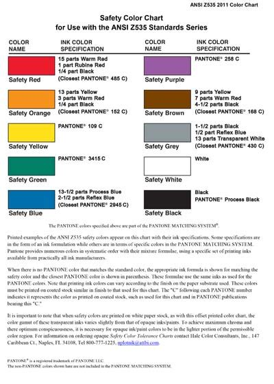 Check spelling or type a new query. ANSI/NEMA Z535-2011 - Safety color chart