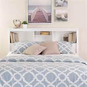 prepac monterey full queen bookcase white headboard ebay