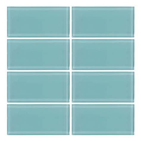 glass tile jeffrey court tiffany may 3 in x 6 in glass wall tile 8 piece pack 99321 the home depot