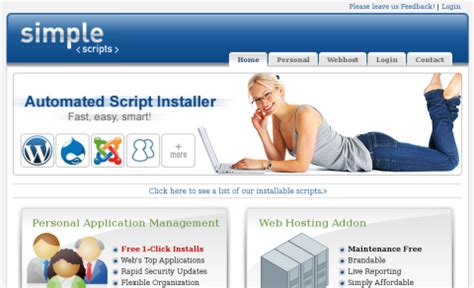 bluehost offers simplescripts