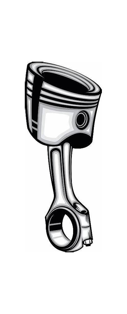 Piston Vector Engine Gear Illustration Illustrations Clip