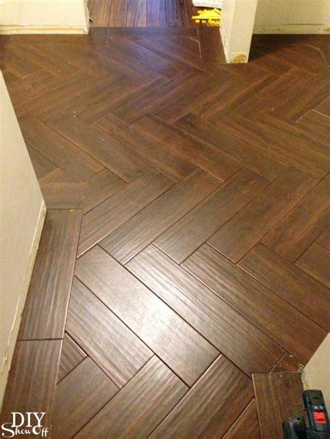herringbone floor tile laundry room herringbone pattern tile floor details diy
