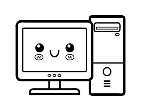 Desktop computer coloring page Coloringcrew com