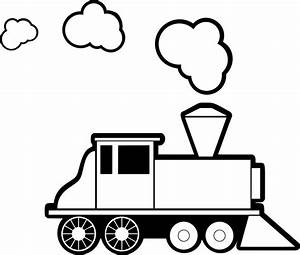 Simple Steam Train Drawing