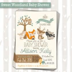 Sweet Woodland Baby Shower Invitation | Baby Boy Woodland Animals Invite | Forest Baby Shower Invitation