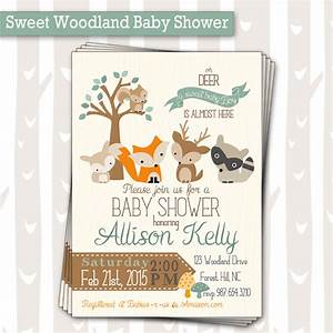 Sweet Woodland Baby Shower Invitation | Baby Boy or Girl ...