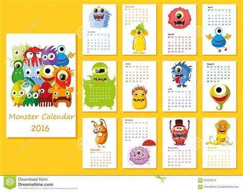 calendar cute owls monthvector stock vector image