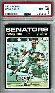 It started with a focus on sports cards and has grown to include other sports memorabilia as well. 1971 Topps Baseball Card of Righty Casey Cox (#82) Graded PSA 8 (Near Mint-Mint)   eBay