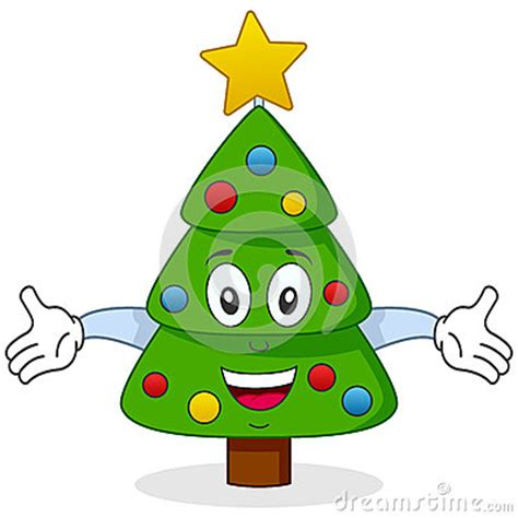happy christmas tree character stock images image 27088774
