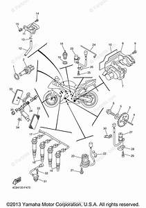 Yamaha Motorcycle 2008 Oem Parts Diagram For Electrical