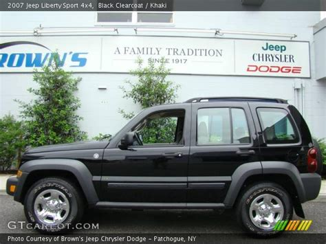 black jeep liberty interior black clearcoat 2007 jeep liberty sport 4x4 khaki