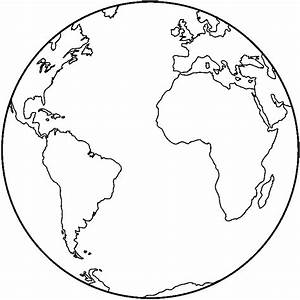 Earth clipart black and white - Pencil and in color earth ...