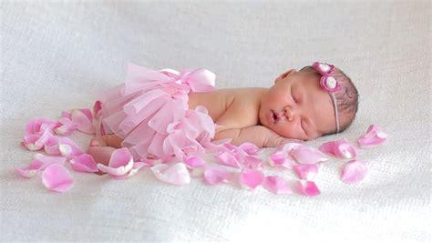cute newborn baby girl sleeping stock footage video