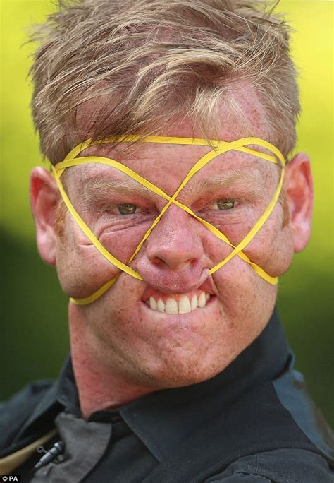 Face Stretch Meme - rubberband boy shay horay makes a living by contorting his face into grotesque shapes daily