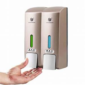 Buy Double Heads Liquid Soap Dispenser Wall Mounted