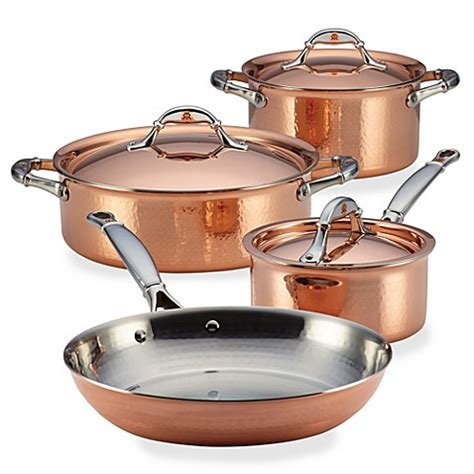 copper pots and pans set bed bath and beyond ruffoni symphonia cupra copper cookware bed bath beyond