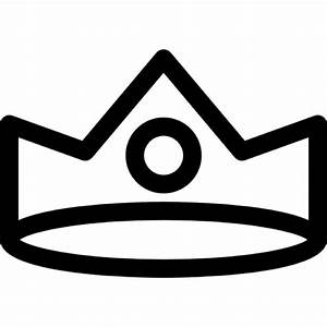 Royal crown of simple design with a frontal circular ...