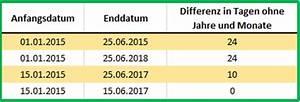 Excel Tage Aus Datum Berechnen : excel datum differenz mit der funktion datedif berechnen ~ Themetempest.com Abrechnung