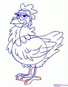 How To Draw A Chicken Step By Step Farm Animals Animals