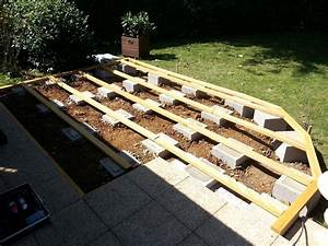 terrasse en bois sur sol meuble nos conseils With terrasse composite sur sol meuble