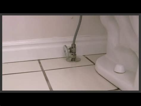 Toilet Shut Off Valve Replacement Youtube