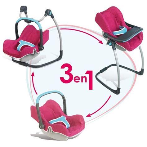 siege auto pour poupon smoby chaise haute cosy 3 en 1 bébé confort achat