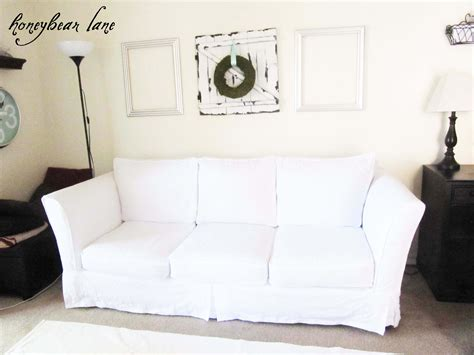 White Loveseat Slipcovers by How To Make A Slipcover Part 1