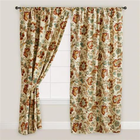 multicolor floral malli sleevetop curtains set of 2 eat