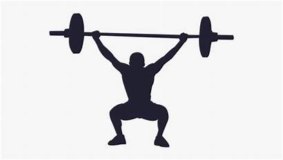 Lifting Silhouette Weight Clipart Clipartkey