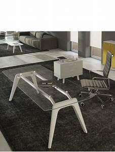 Bureau En Verre Design : delex mobilier bureau de direction en verre design rail ~ Teatrodelosmanantiales.com Idées de Décoration