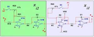 Circuit Diagram For The Electronic Implementation Of The X