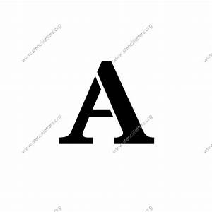 high contrast elegant uppercase lowercase letter With 4 letter stencils