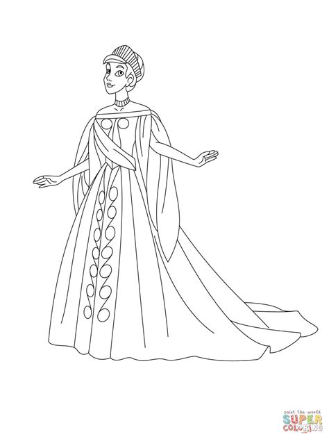 anastasia coloring pages    print