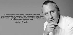 Johan Cruyff on... Johan Kruijf Quotes