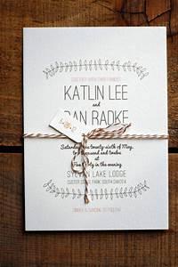 Rustic wedding invitations with elegant style ipunya for Simple wedding invitations with pictures